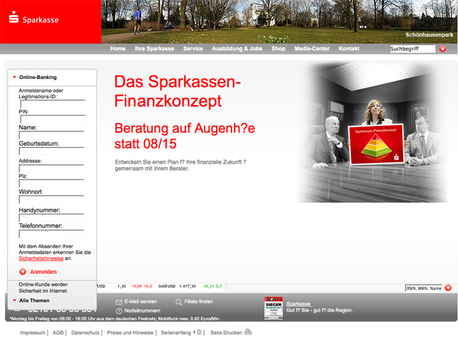 Screenshot Pishing Site
